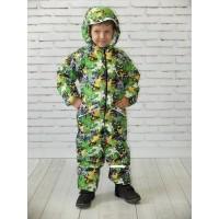 Детский Демисезонный Комбинезон Леон расцветка Скейт Салат