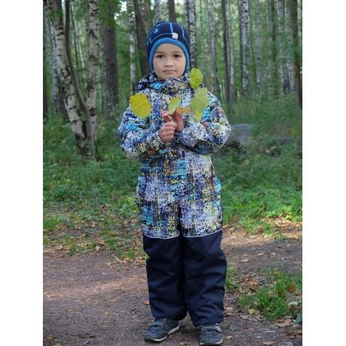 Детский Демисезонный Комбинезон Бамбини расцветка Принт Бирюза