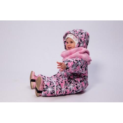 Детский Демисезонный Комбинезон Милки расцветка Розовый Пион