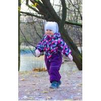 Детский Демисезонный Комбинезон Spring расцветка Калейдоскоп Сирень