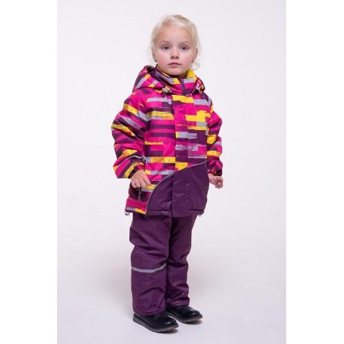Детский Демисезонный Костюм Спортлайн расцветка Баклажан