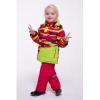 Детский Демисезонный Костюм Спортлайн расцветка Сочная Малина Лайм