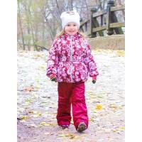 Детский Демисезонный Костюм Аленка расцветка Узоры Бордо