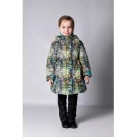 Детское Демисезонное Пальто Ассоль расцветка Ромашки Пиксель