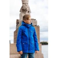 Детская Демисезонная Куртка в стиле Casual расцветка Василек