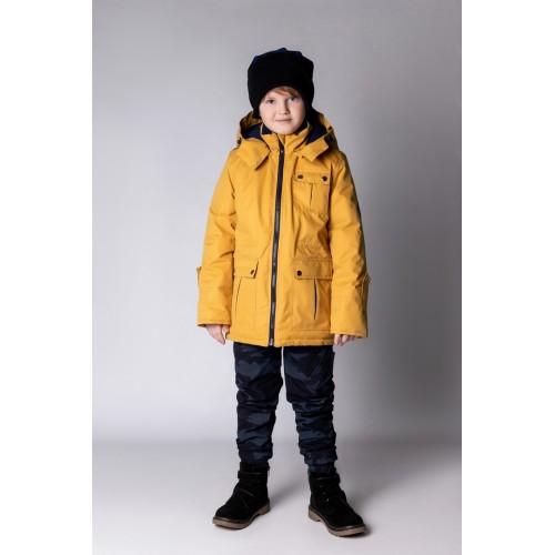 Детская Демисезонная Куртка в стиле Casual расцветка Горчица