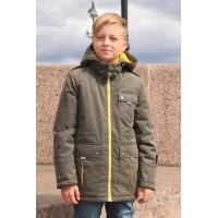 Детская Демисезонная Куртка в стиле Casual расцветка Олива