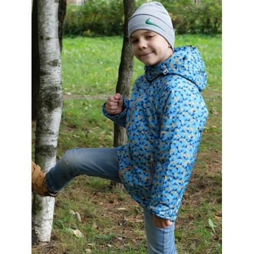 Детская Демисезонная Куртка Донатто расцветка Синий Ромбы