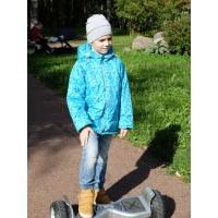 Детская Демисезонная Куртка Донатто расцветка Ромбы Бирюза