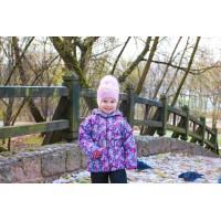 Детская Демисезонная Куртка Донатто расцветка Цветы Фиолет