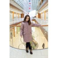 Детское Демисезонное Пальто Go With расцветка Чайная Роза