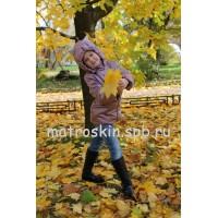 Детская Демисезонная Куртка с ушками на капюшоне Расцветка Перламутр