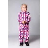Детский Ветровочный Комбинезон Softshell расцветка Розовый