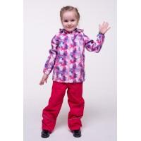 Детская Ветровочная Куртка Softshell расцветка Розовый