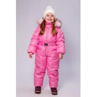Детский Зимний Комбинезон Бэмби расцветка Фламинго