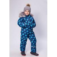 Детский зимний комбинезон Айс расцветка Голубые Снежинки