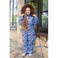Детский зимний комбинезон Айс расцветка Мозаика Фиолет