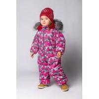 Детский зимний комбинезон Айс расцветка Малина Серый