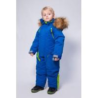 Детский зимний комбинезон Арктика расцветка Синий Салат