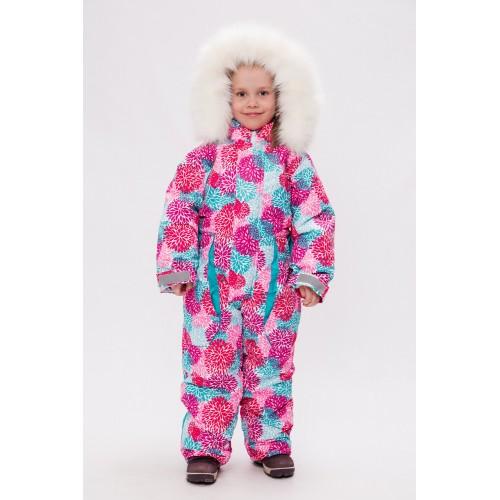 Детский зимний комбинезон Арктика расцветка Хризантемы