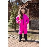 Детский зимний комбинезон Nordway расцветка Розовый Неон