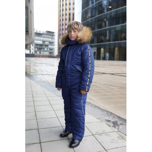 Детский зимний комбинезон Оттава расцветка Синий