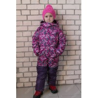Детский Зимний Комбинезон Бамбини расцветка Шары Фиолет