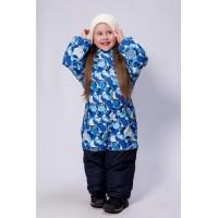 Детский Зимний Комбинезон Бамбини расцветка Сферы Голубой