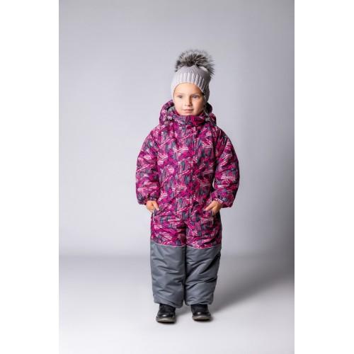 Детский Зимний Комбинезон Бамбини расцветка Шары Малина