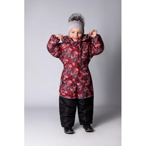 Детский Зимний Комбинезон Бамбини расцветка Красные Шары