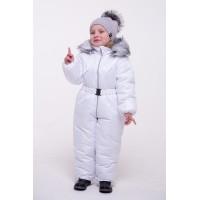 Детский Зимний Комбинезон Бэмби расцветка Белый