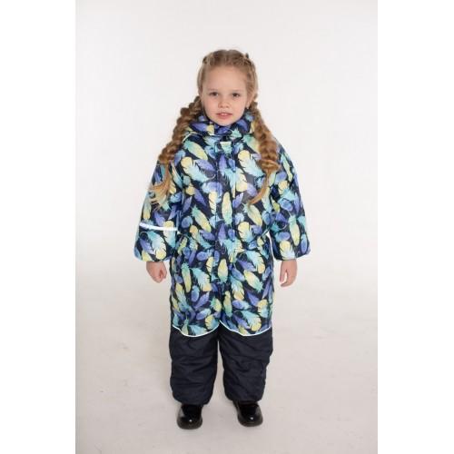 Детский Зимний Комбинезон Ньюскул расцветка Синий Бирюза