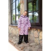Детский Зимний Комбинезон Ньюскул расцветка Панды Розовый