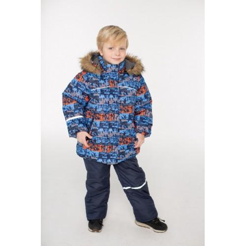 Детский Зимний Костюм Норд расцветка Синий Оранж