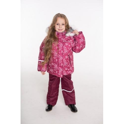 Детский Зимний Костюм Норд расцветка Бордо