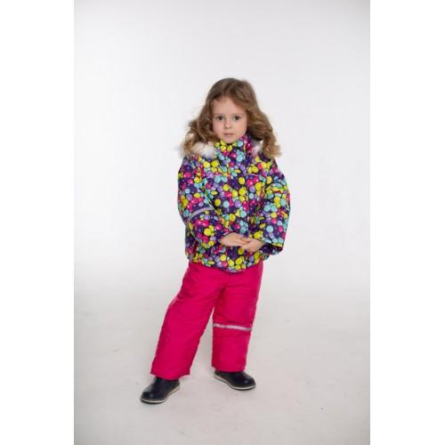 Детский Зимний Костюм Норвегия расцветка Шары Малина