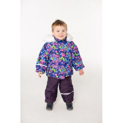 Детский Зимний Костюм Норвегия расцветка Шары Фиолет