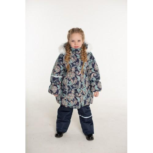 Детский Зимний Костюм Сударушка расцветка Синий Бирюза