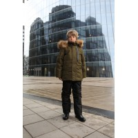 Детский Зимний Костюм Winter Style расцветка Хаки