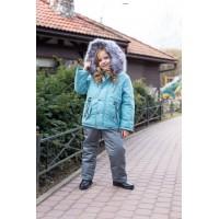 Детский Зимний Костюм Сold Weather расцветка Бирюза Серый