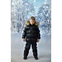Детский Зимний Костюм Люкс расцветка Черный