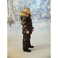 Детский Зимний Костюм Люкс расцветка Шоколад