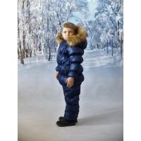 Детский Зимний Костюм Люкс расцветка Темно Синий