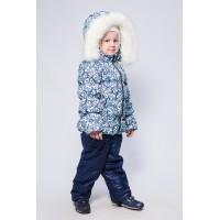 Детский Зимний Костюм Люкс расцветка Морозные Узоры