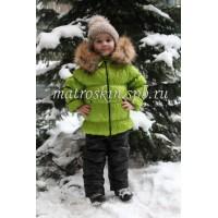 Детский Зимний Костюм Люкс расцветка Салат