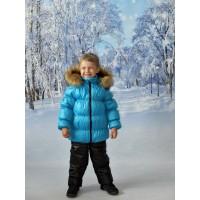 Детский Зимний Костюм Люкс расцветка Бирюза