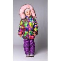 Детский Зимний Костюм Люкс расцветка Фиолет Принт