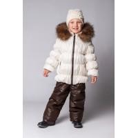 Детский Зимний Костюм Люкс расцветка Белый Шоколад
