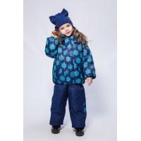 Детский Зимний Костюм Нью Микс расцветка Темно Синий Кристалл