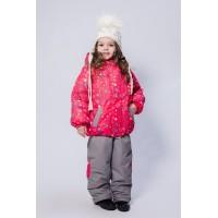 Детский Зимний Костюм Нью Микс расцветка Алый Космос